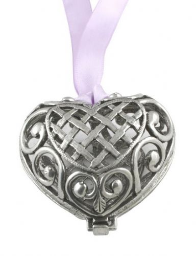 Hanging Heart Pewter Pomander